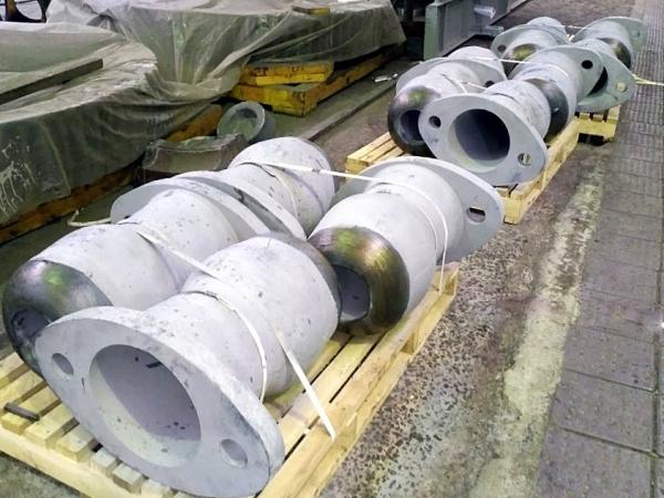 Носки электропушки для доменного производства общей массой более 5 тонн