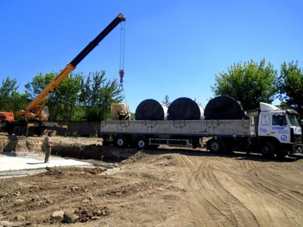 Отгрузка бетонного завода Гранит 60Д со скиповой подачей инертных материалов