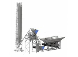 Concrete-mixing plants 28-150 m.cub/ hr