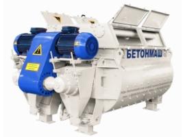 Двухвальный бетоносмеситель БП-2Г-4500