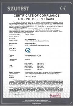 Сертификат відповідності Карбон Бетонмаш