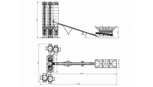 Габарит бетонный завод мобильный 120 м3