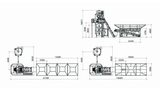 Габаритне креслення бетонного заводу «ГРАНІТ-60»