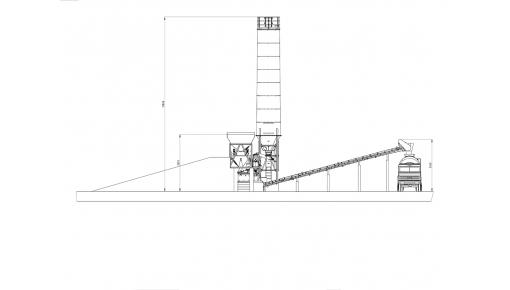 Concrete plant CARBON, 50 m.cub/hr, conveyor