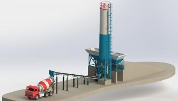 Новая бетоносмесительная установка производства Бетонмаш «КАРБОН-50 Light»
