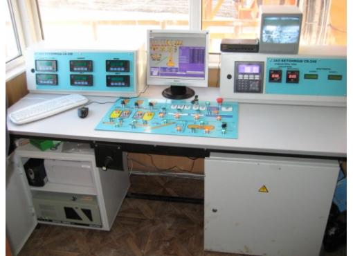 Пульт оператора бетонного завода
