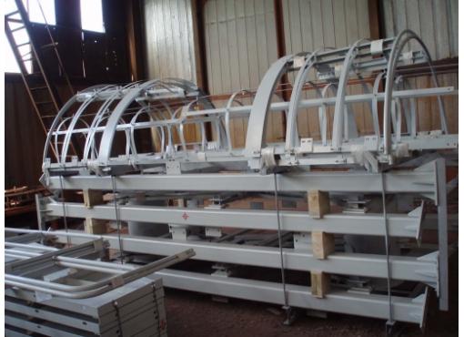 Вертикальная лестница с защитным ограждением для цементного склада СБ-248.02Б