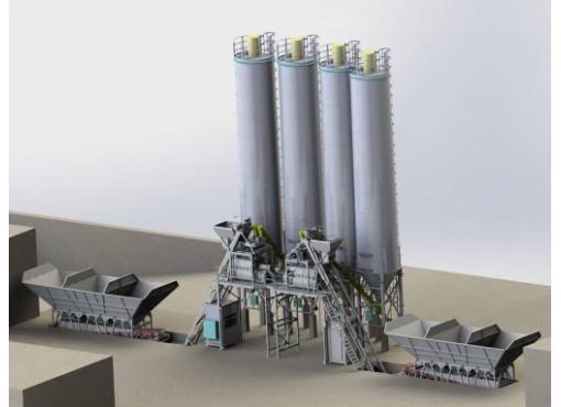 Бетонный завод мобильный 120 м3