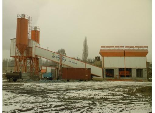 Стационарная бетоносмесительная установка СБ-145-3А