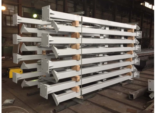 Опорная часть из профилированного металлопроката для цементного склада СБ-248.02Б
