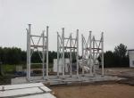 Подготовка к монтажу цементного склада